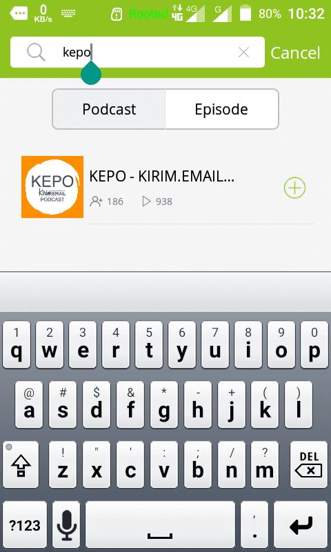 Tutorial Mendengarkan KEPO-KIRIM.EMAIL Podcast Dari HP Android Anda - 9