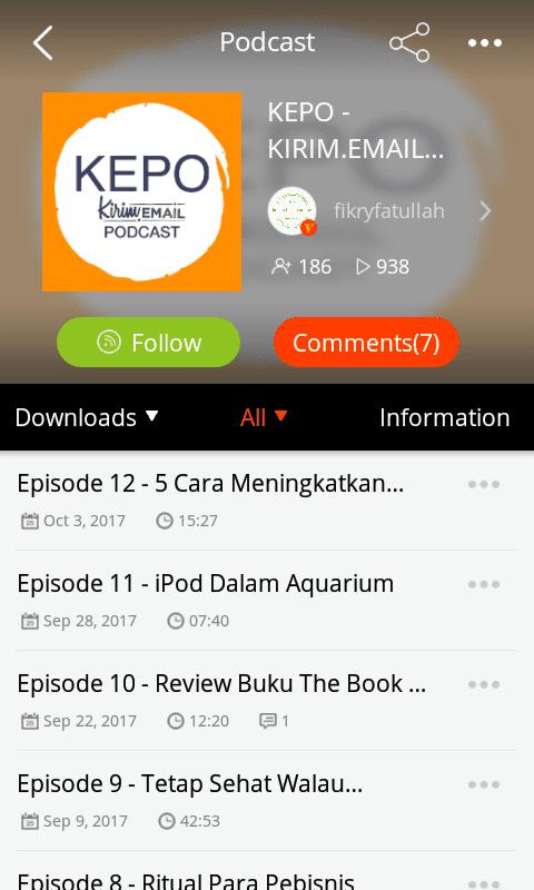 Tutorial Mendengarkan KEPO-KIRIM.EMAIL Podcast Dari HP Android Anda - 10