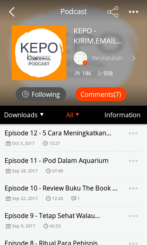 Tutorial Mendengarkan KEPO-KIRIM.EMAIL Podcast Dari HP Android Anda - 11