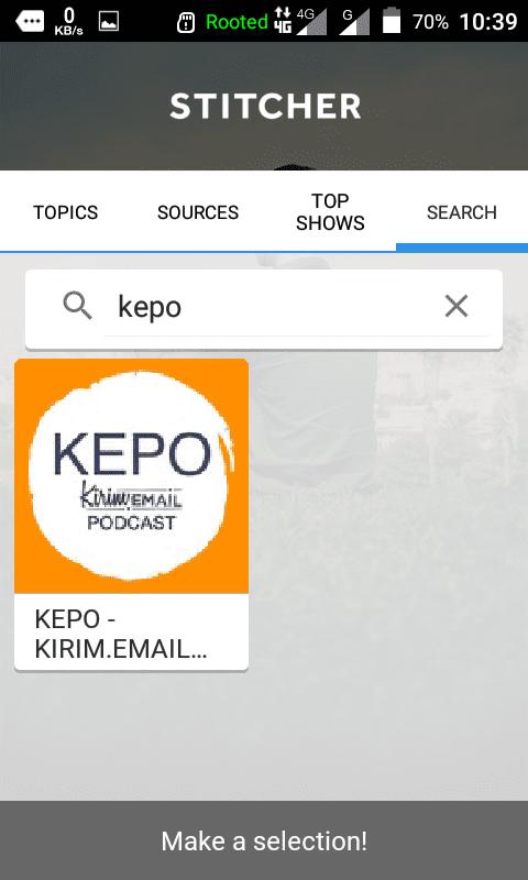 Tutorial Mendengarkan KEPO-KIRIM.EMAIL Podcast Dari HP Android Anda - 20
