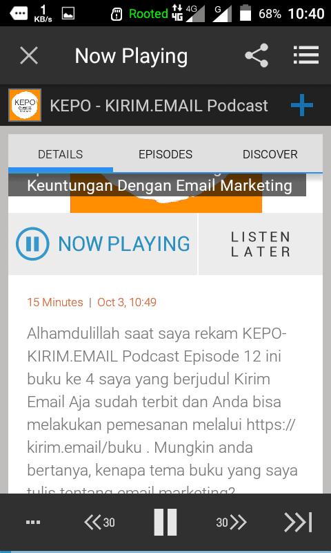 Tutorial Mendengarkan KEPO-KIRIM.EMAIL Podcast Dari HP Android Anda - 24