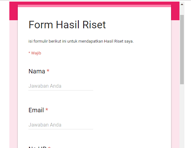 membuat list building tanpa opt in - form flanelshop