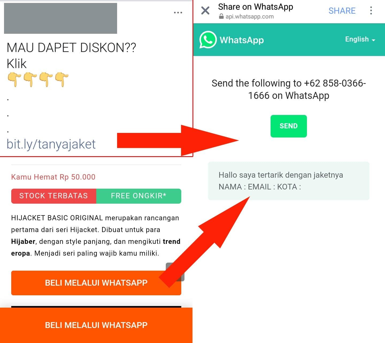 Cara Membuat Link WhatsApp Menuju Chat Langsung Di Email Secara Otomatis - 1