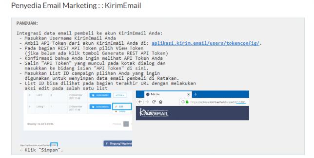 Integrasi Ratakan Dengan KIRIM.EMAIL - 3