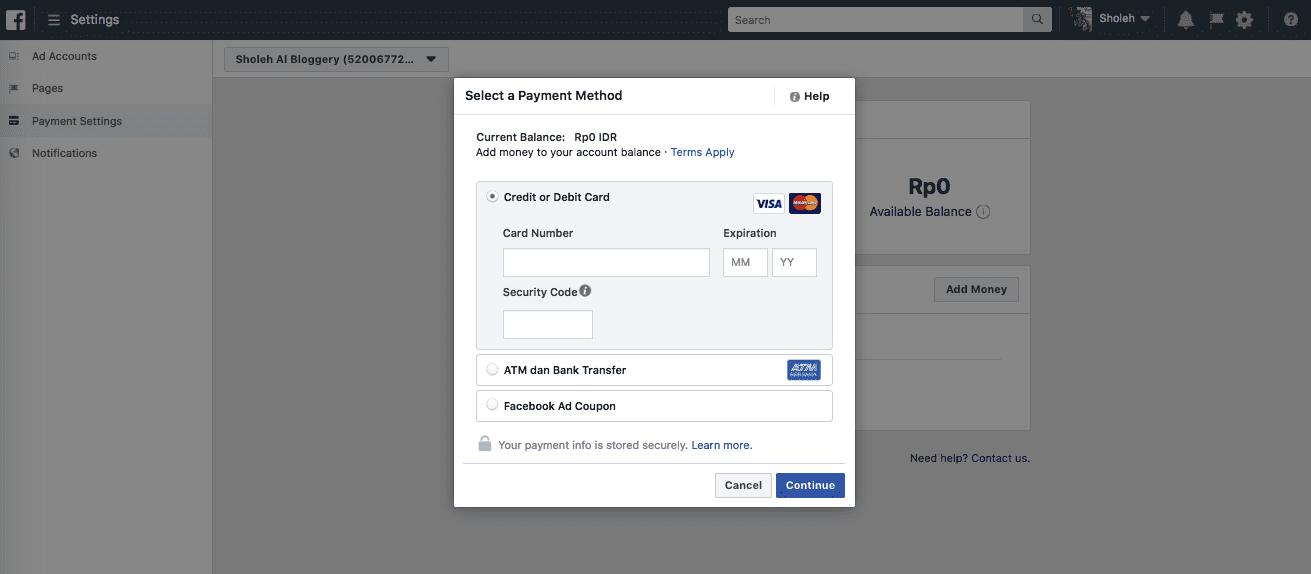 Cara Pembayaran Facebook Ads - 3