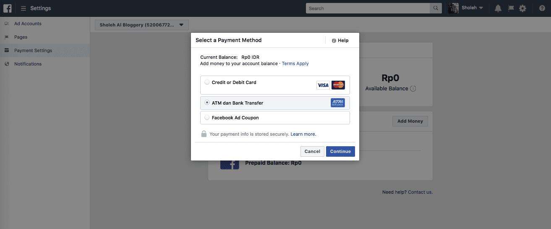 Cara Pembayaran Facebook Ads - 6