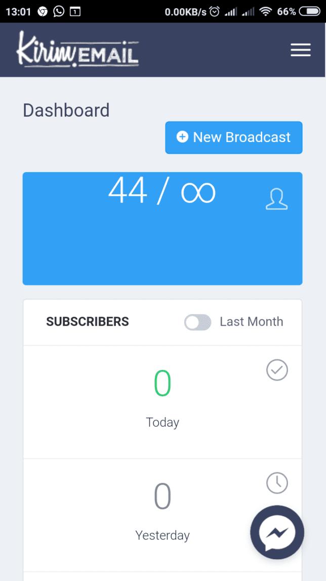 [Pengumuman] Mengakses Halaman Aplikasi KIRIM.EMAIL Kini Bisa Lebih Cepat Melalui Android - 6