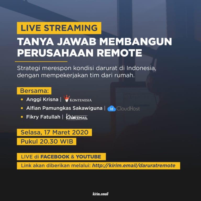 Live Streaming: Tanya Jawab Membangun Perusahaan Remote - 1