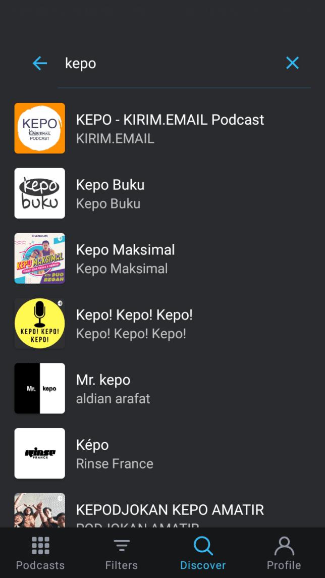 Tutorial Mendengarkan KEPO-KIRIM.EMAIL Podcast Dari Pocket Casts - 2