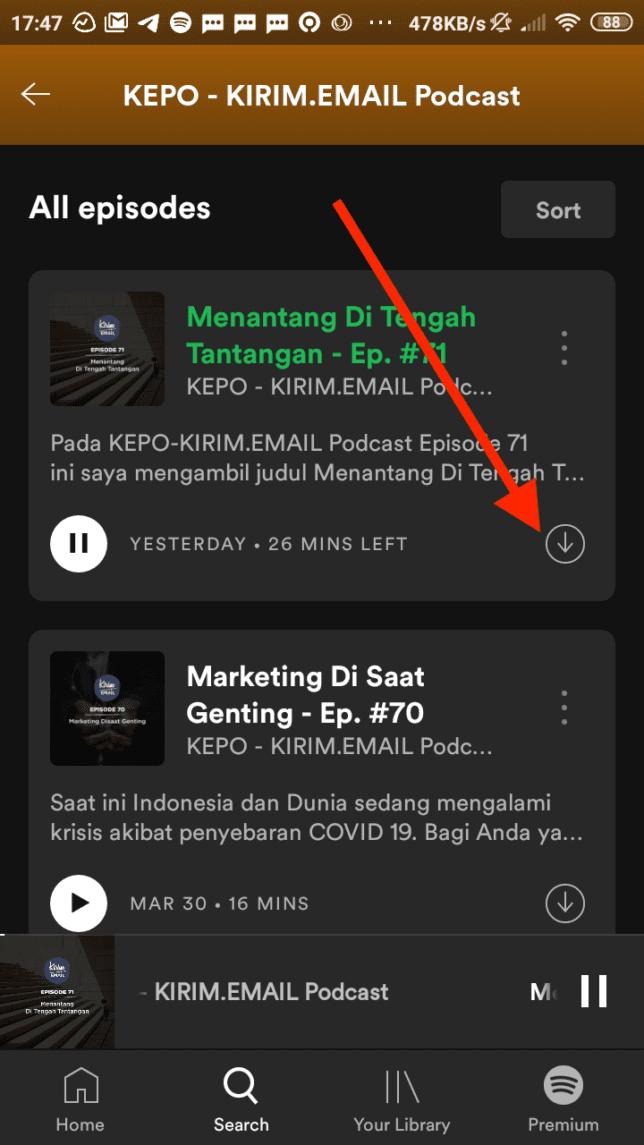 Tutorial Mendengarkan KEPO-KIRIM.EMAIL Podcast Dari Spotify - 6