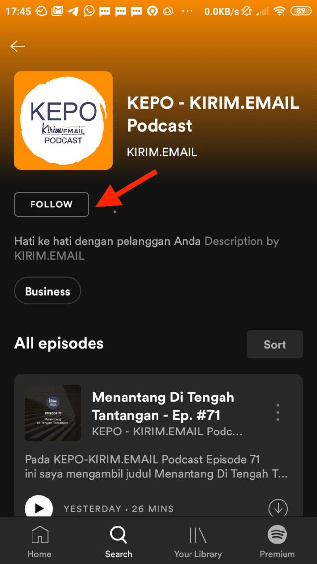 Tutorial Mendengarkan KEPO-KIRIM.EMAIL Podcast Dari Spotify - 3