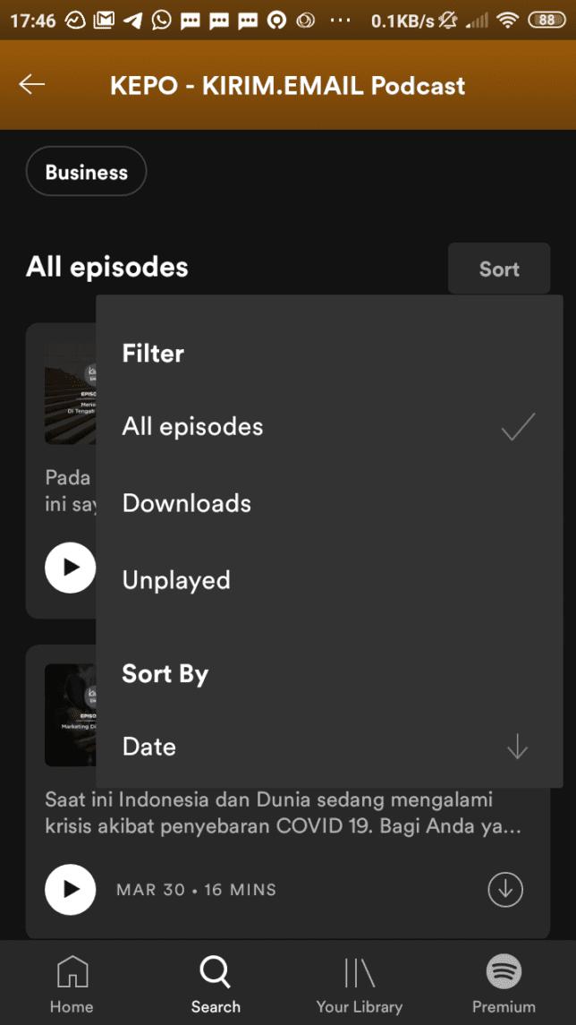 Tutorial Mendengarkan KEPO-KIRIM.EMAIL Podcast Dari Spotify - 4