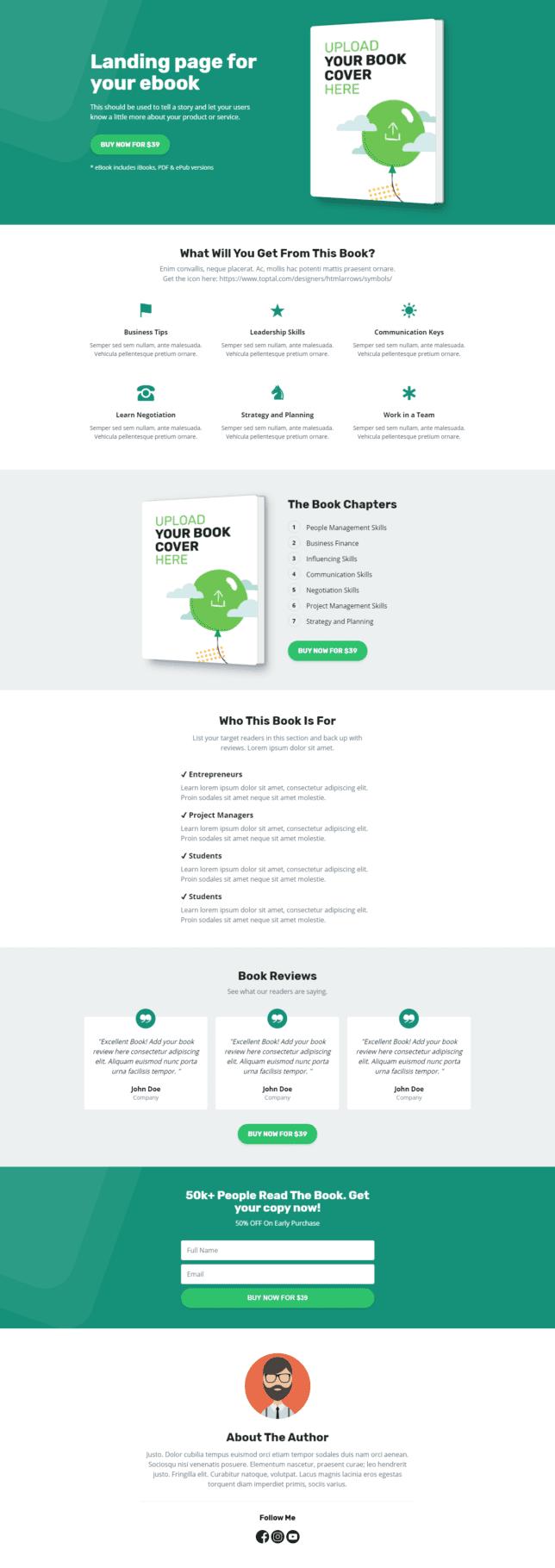 """[Pengumuman] Template Landing Page """"Ebook Collections"""" Untuk Anda - 1"""