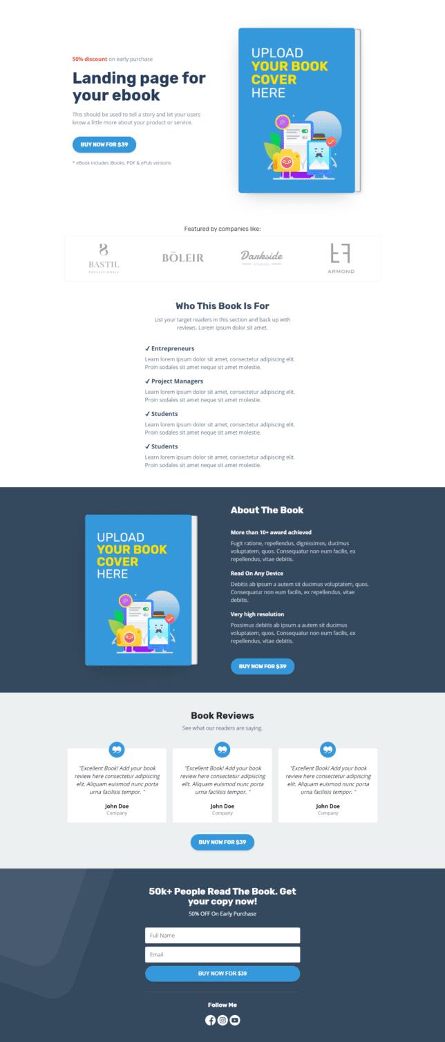 """[Pengumuman] Template Landing Page """"Ebook Collections"""" Untuk Anda - 3"""