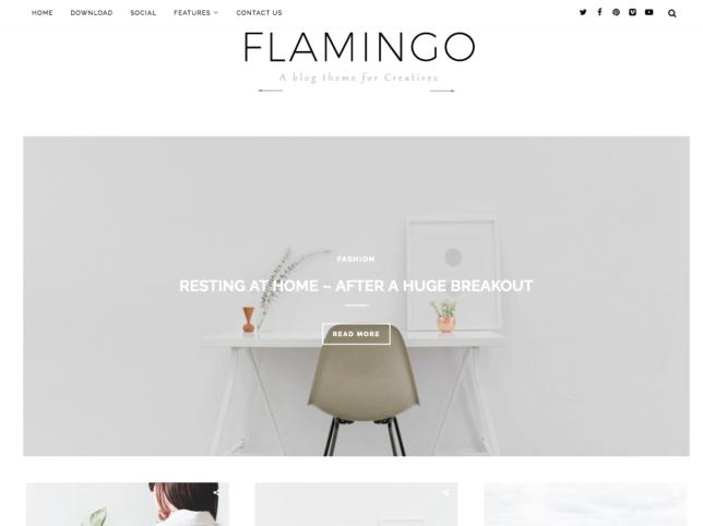 template blogger - flamingo