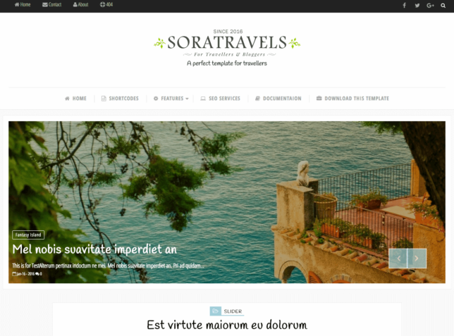 template blogger - sora travel