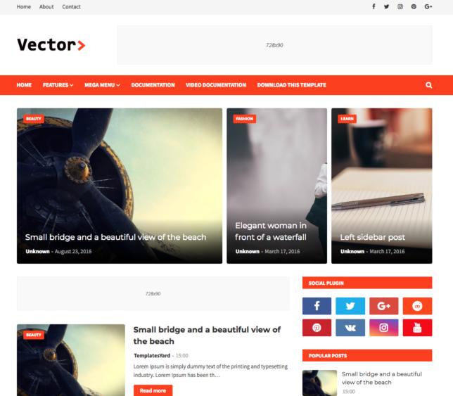 10+ Template Blogger Keren, Responsive & SEO Friendly 2021 - 1