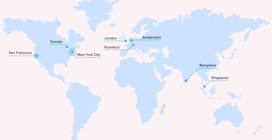 DigitalOcean data center location map