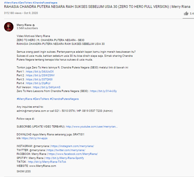 Contoh Deskripsi YouTube dan Tips Cara Membuatnya - 5